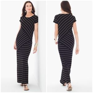 New! Travelers Chico Spliced Striped Maxi Dress